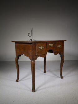 Welsh 18th Century Antique Oak Lowboy Table