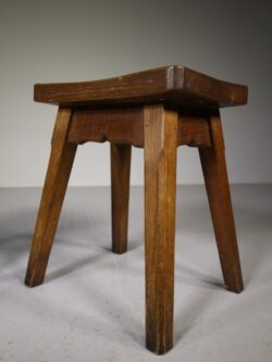Set of Four 1930's Yorkshire Oak Stools