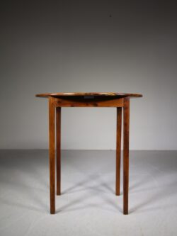 English 19th Century Antique Solid Yew Wood Side Table