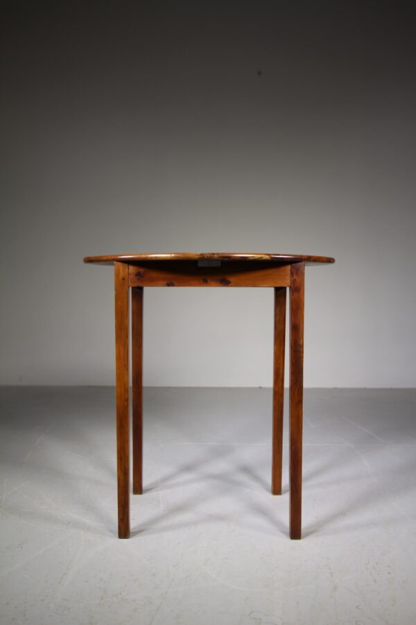 English 19th Century Antique Solid Yew Wood Side Table | Miles Griffiths Antiques