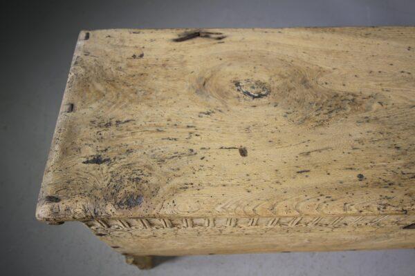 17th Century Antique Elm Coffer dated 1685 | Miles Griffiths Antiques