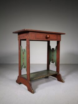 Edwardian Antique Painted Pine Games Table