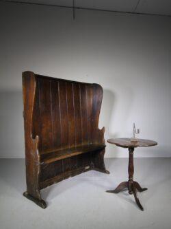 English 18th Century Antique Oak High Back Settle