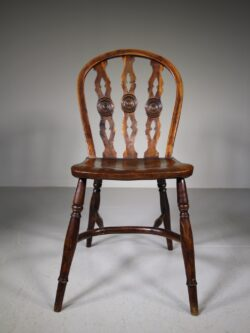 Early 19th Century Antique Yew Wood Windsor Chair