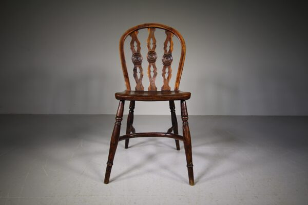 Early 19th Century Antique Yew Wood Windsor Chair | Miles Griffiths Antiques