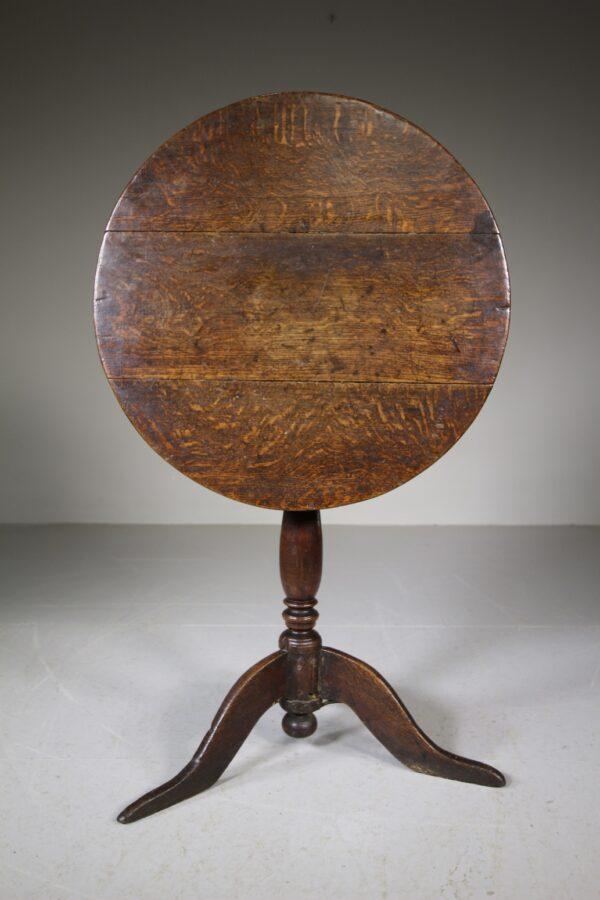 Early Georgian Antique Oak Tripod Table | Miles Griffiths Antiques