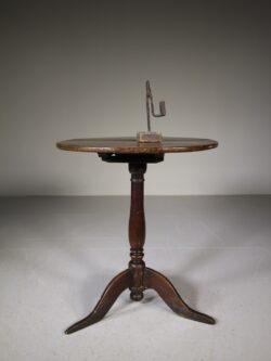Early Georgian Antique Oak Tripod Table