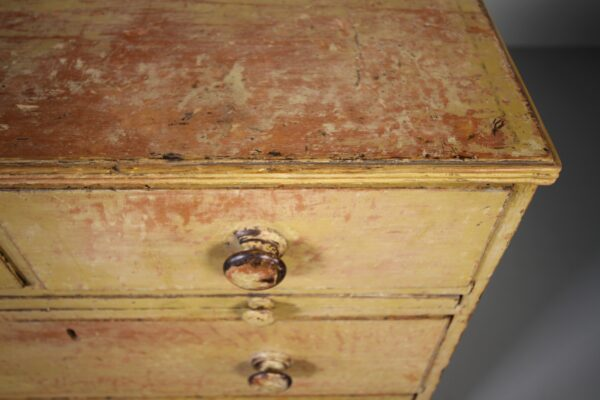 English Regency Antique Original Painted Pine Chest of Drawers   Miles Griffiths Antiques