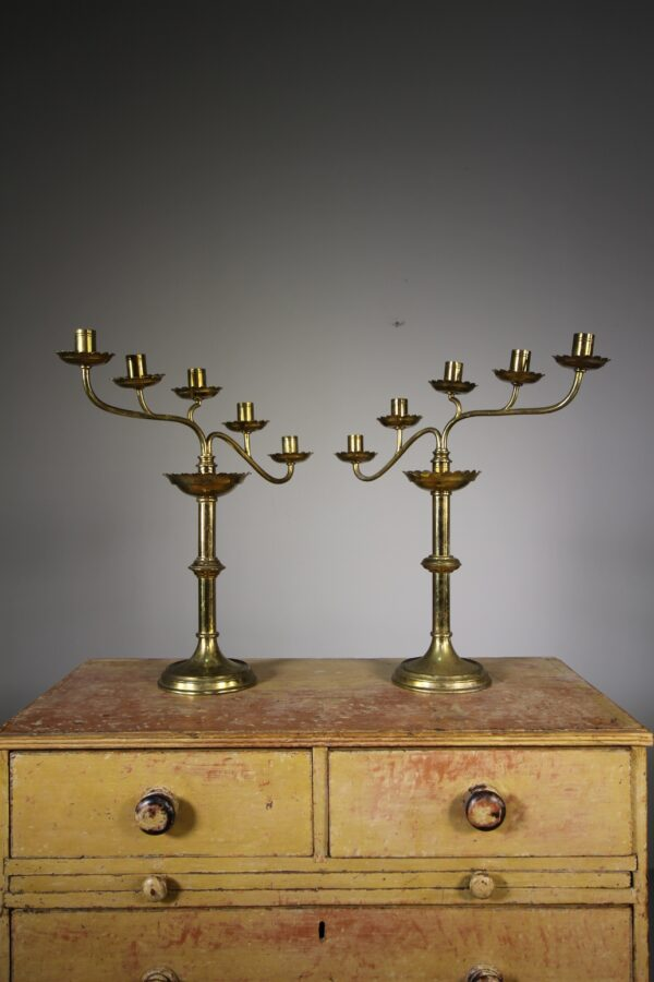 Pair of 19th Century Antique Candelabra | Miles Griffiths Antiques