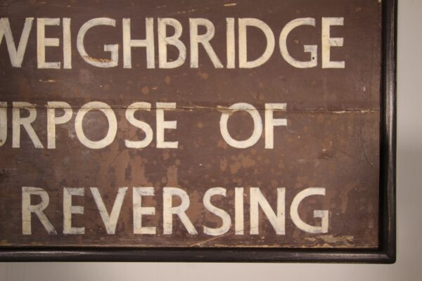English 1940's Large Painted Pine Railway Sign   Miles Griffiths Antiques