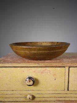 English 19th Century Antique Sycamore Dairy Bowl