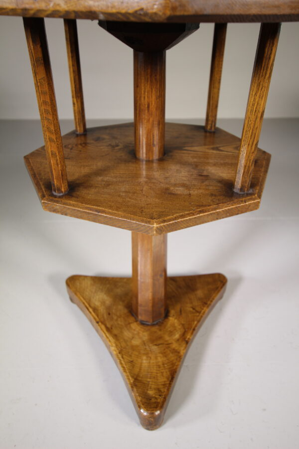 Early 19th Century Antique Ash Revolving Table | Miles Griffiths Antiques