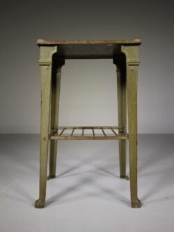 English 19th Century Antique Cast Iron Side Table