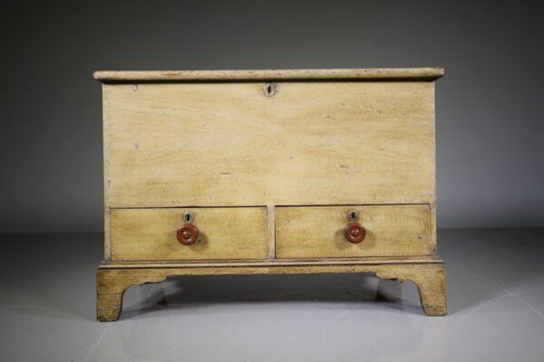 Regency Antique Original Painted Pine Mule Chest   Miles Griffiths Antiques