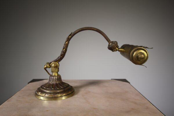 Quality Gilt Bronze Antique Desk Lamp | Miles Griffiths Antiques