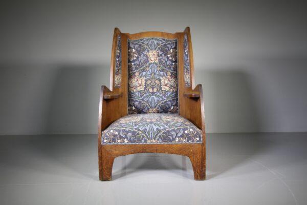 Heals Large Antique Oak Armchair | Miles Griffiths Antiques