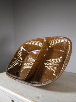 Large 19th Century Welsh Antique Slipware Dish