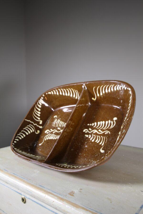 Large 19th Century Welsh Antique Slipware Dish   Miles Griffiths Antiques