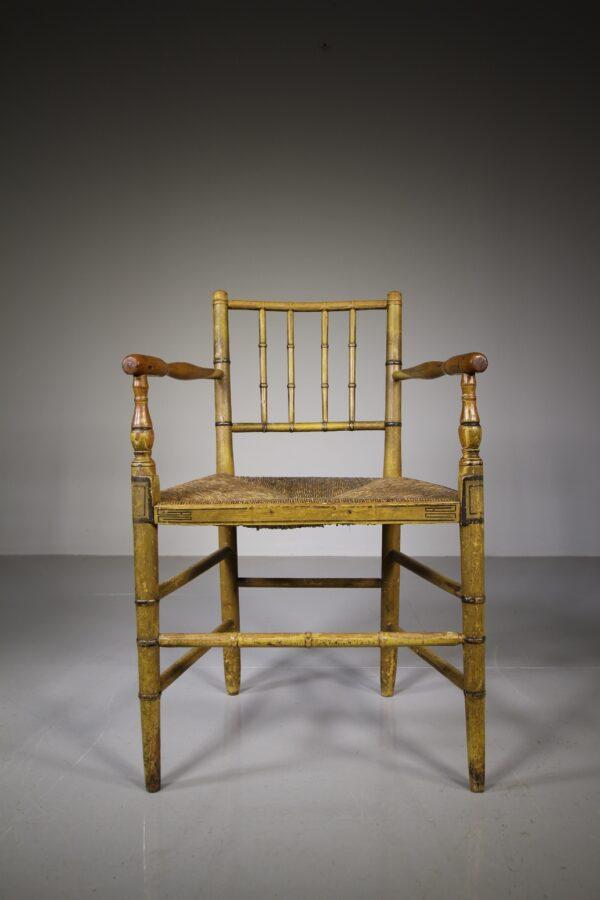 Regency Antique Armchair in Original Paint   Miles Griffiths Antiques