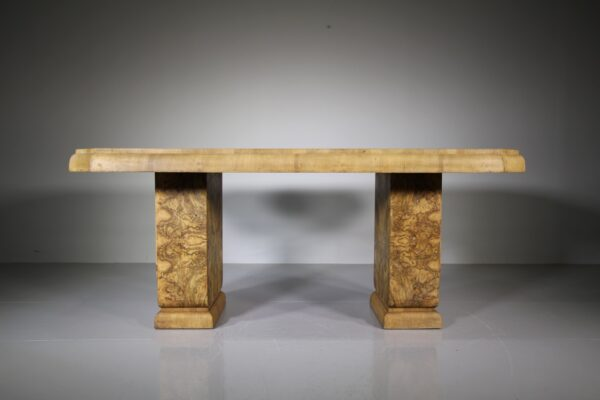English Art Deco Antique Walnut Dining Table | Miles Griffiths Antiques