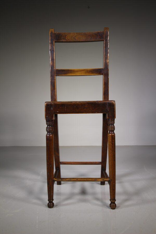 Beautiful English Antique Elm Deportment Chair | Miles Griffiths Antiques