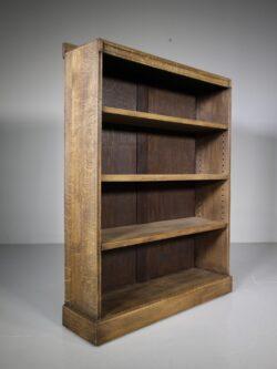 Heals 1930's Oak Open Bookcase- Labelled
