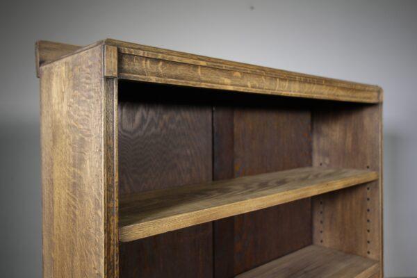 Heals 1930's Oak Open Bookcase- Labelled   Miles Griffiths Antiques