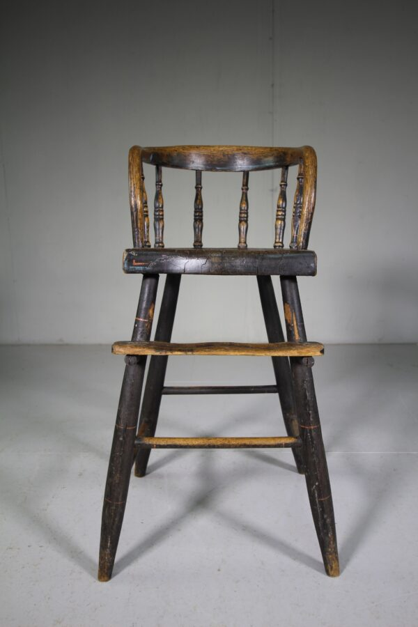 Painted Antique Spindle Back Childs Chair   Miles Griffiths Antiques