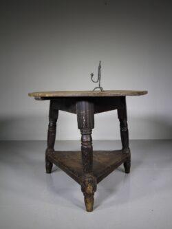 Original Painted Pine Antique Cricket Table – Good Size