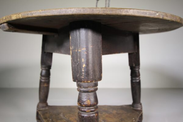 Original Painted Pine Antique Cricket Table - Good Size | Miles Griffiths Antiques