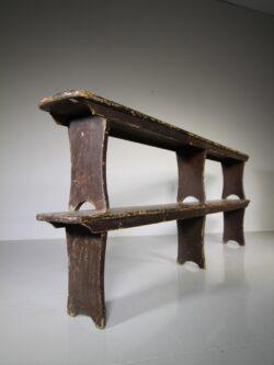 Pair of Antique Bench Seats Original Painted Pine